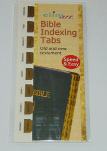 Bible Indexing Tabs, Old & New Testament, Gold Color, Elim Books & Stationery