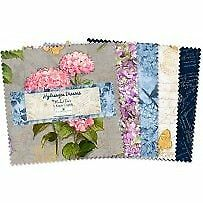 Hydrangea Dreams~ Charm Pack 42, 5'' Cotton Squares -by Wilmington Prints