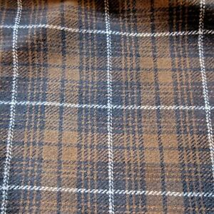 """Pendleton Brown and Gray Plaid flannel fabric by the yard 58"""" wide"""
