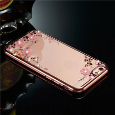 Shockproof Bumper Silicone TPU Bling Clear Case Cover For iPhone 7 & 7 Plus