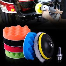 """7pcs 5"""" 125mm Car Polishing Waxing Buffing Wave Sponge Pads Wool Polisher Buffer"""