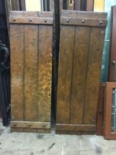 Vintage Exterior Wood Window Shutters 48 X 16 1/2