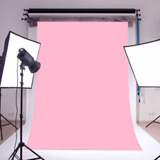 Solid Color Pink Polyester Wall Photo Background Photography Backdrop Prop 5X7FT