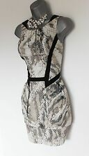 Karen Millen Snake Print Bubble Style Sleeveless Lovely Mini Dress UK10 EU38