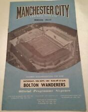 First Division Manchester City Teams L-N Football Programmes