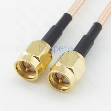 RG316-D Double Shield braid SMA Male to Male plug M RF Coax Jumper Pigtail Cable