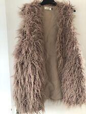 Ladies Long Fur Gillet L/XL