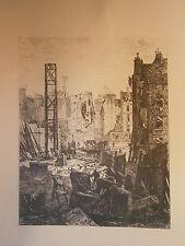 Planche gravure Démolition pour le percement du boulevard ST Germain Paris 1863