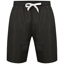 Mens Red Funky Retro Bright Mesh Swimming Beach Holiday Short Black 2xl