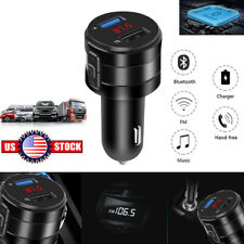 Wireless Bluetooth Car FM Transmitter Player USB Phone Charger Handsfree Car kit