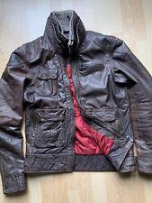 SUPERDRY TARPIT Leather Biker Flight Jacket - XL Excellent Condition Brown