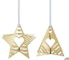 Danish Georg Jensen 2019 Box Set Christmas Decoration Star & Tree - Gold