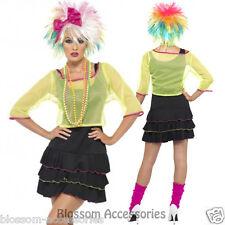 CL224 Pop Tart 80's Madonna Cyndi Lauper Rock Retro Neon Punk Dress Costume