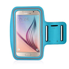 Running High Quality Adjustable Neoprene Armband Tie Samsung Galaxy S6 LightBlue