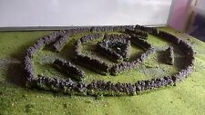 28 Stone Walls,28mm,Scenery,Terrain,40k,Wargaming,LOTR,Warhammer,O Scale,Painted
