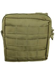 Tan compatible MOLLE Medium Zipped Army Utility Webbing Pouch RAF Security