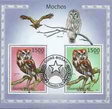 Timbres Oiseaux Hiboux Guinée Bissau BF544 o année 2010 lot 23394 - cote : 16 €