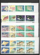 s31469) GUINEA 1980 MNH** Nuovi** Fishes Pesci 12v imperforated (4 sets)