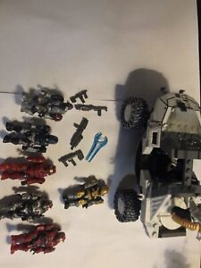 halo mega bloks figure lot and Warthog
