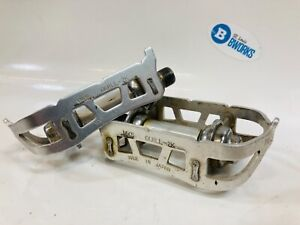 """Vintage MKS Quill-2K Bicycle Platform Pedals Alloy 9/16"""" QU-2K Fixie/Road Pedal"""