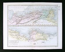 1867 Weller Map - Roman North Africa - Mauritania Lybia Cyrene Alexandria Egypt