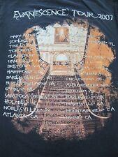 Evanescence Tour 2007 - Rare Family Values Tour 2007 - Men's Small Black T-Shirt