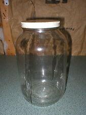 Gallon Size Glass Jar Sun Tea Canister Storage Jug Metal Lid