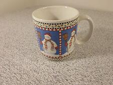 Sakura Debbie Mumm Snowman Coffee Mug Cup Christmas                            a