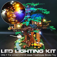 LED Light Lighting Kit ONLY For LEGO 21318 Ideas Treehouse Building Block  w