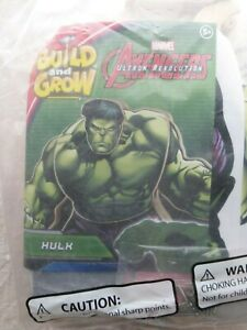 Lowe's Build and Grow Marvel Avengers Hulk Wooden Kit with patch NIP