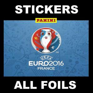 Panini Euro 2016 Football stickers FOILS & SPECIALS