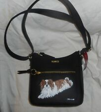 Japanese Chin Dog Hand Painted Cross Body Shoulder Bag Purse for Women Vegan
