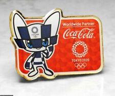 OLYMPIC PINS BADGE 2020 TOKYO JAPAN COKE COCA COLA WORLDWIDE SPONSOR MASCOT