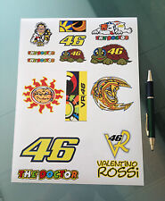 Valentino Rossi Stickers - Large Decal Sticker kit (A4 SIZE SHEET)