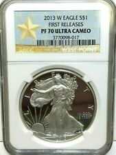 2013 W PROOF SILVER AMERICAN EAGLE ***NGC PF 70 ULTRA CAMEO*** WEST POINT MINT