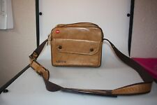 leica leitz semi hard padded tan leather combination case