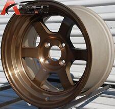 """BRONZE 15X9 -15 ROTA GRID-V 4X114.3 RIM FIT AE86 240SX AGGRESSIVE 4X4.5 3"""" LIP"""