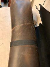 Leather Cowhide Dark Brown Worn look 1/2 Sides 6 - 8 oz Oil Tanned Cow Hide