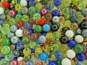 Nice Mix Of Mega Glass Marbles by the Pound ONLY $5.99 per lb. 1 inch diam BULK