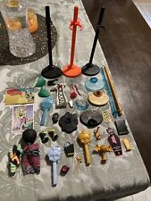 Monster High Accessories LOT with Shoes Clothes stands brushes Cards Other !