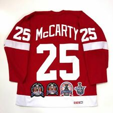 DARREN McCARTY STANLEY CUP DETROIT RED WINGS CCM JERSEY RED LARGE