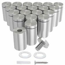 LuckIn 20-Pack 1/2 x 1 Inch Stainless Steel Standoff Screws Mounting Glass Ha.