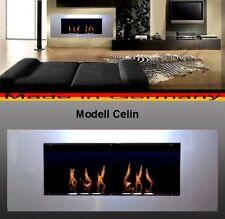 Cheminée Celin-Argent pour Gel ou Ethanol / Fabriqué en Allemagne / fireplace