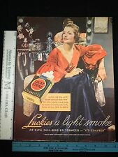 Rare Original VTG 1936 Lucky Strike & Turret Top Car Advertising Art Print