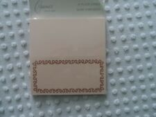 NEW package of 10 Crane Place Cards in Pink with Ribbon Border