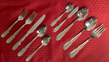 CUISINART AIRE STAINLESS FLATWARE(1) 5 PC PLACE SETTING + Serving Set