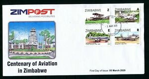 2020 ZIMBABWE - CENTENARY of AVIATION - FIRST DAY COVER