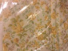 """JC Penney Quincy KING Bedskirt 15"""" Drop Shabby Chic Floral Yellow Green Ivory"""