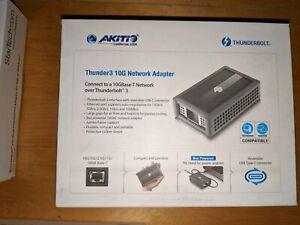 Akitio 10GBE Thunderbolt 3 Network Adapter, Thunder3,10G/5G/2.5G/1G. New in box