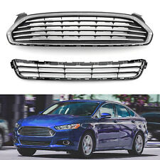 Front Bumper Upper & Lower Grille Assembly For Fusion 2013-2016 DS7Z8200BA US